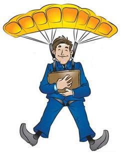 Parachute centerblog - Dessin parachutiste ...